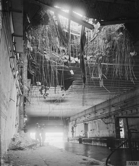 German U Boat Pens Brest 2 november 1944 a u boat captain returns to bombed out