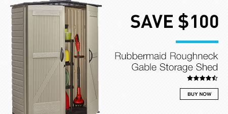 rubbermaid roughneck gable storage shed assembly lowes enjoy up to 30 select major appliances milled