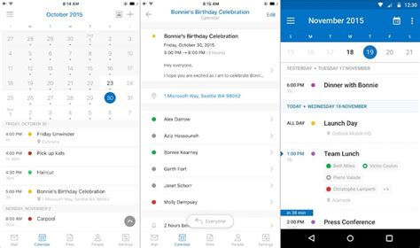 outlook android microsoft outlook app reved to get calendar