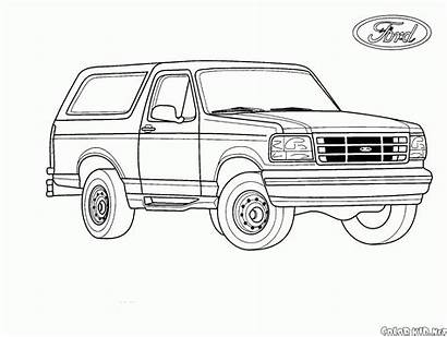 Coloring Ford Pages Jeeps Colorkid