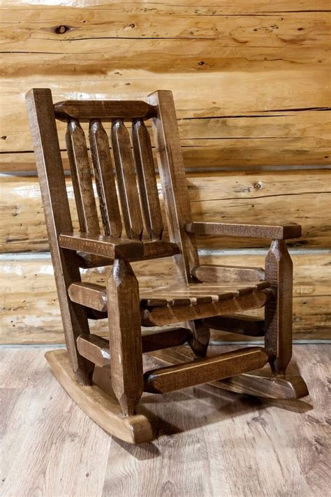 toddler size rustic rocker amish made rocking chair