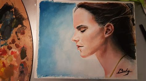 Drawing Painting Emma Watson Beauty The Beast