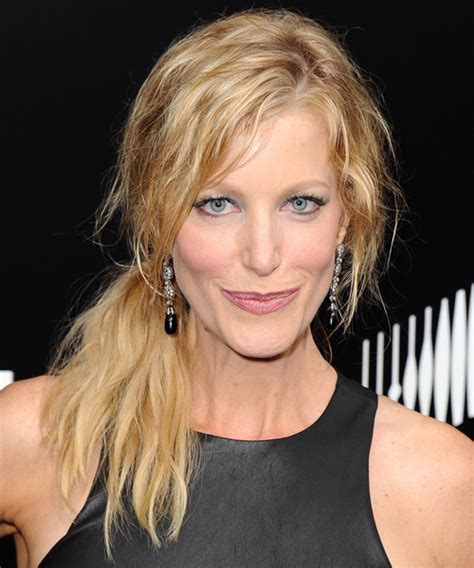 Anna Gunn Curly Casual Half Up Hairstyle