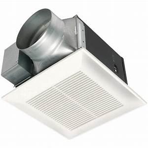 Panasonic whisperceiling 150 cfm ceiling exhaust bath fan for Cfm requirements for bathroom fans