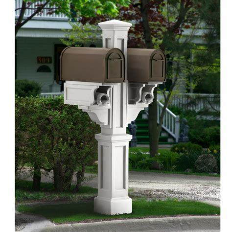 Mayne 5811-BK Rockport Double Mailbox Post, Black