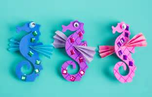 make your own seahorses craft