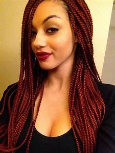 45 Photos of Rockin' Red Box Braids