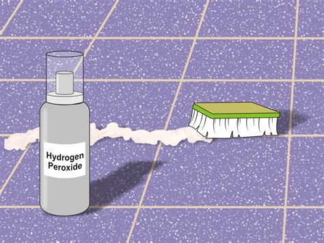 cleaning grout with hydrogen peroxide baking soda and