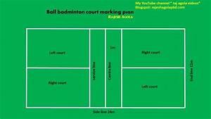 Ball Badminton Court Easy Marking Plan