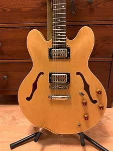Epiphone Dot 335 1998 Natural W   Lollar Lollartrons And