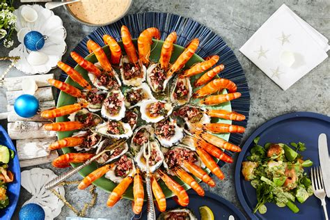 Complete your christmas spread with the help of this seafood recipe collection. Christmas Seafood Share Platter Recipe | New Idea Food