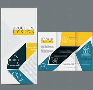 three fold brochure template vector design web design With 3 folded brochure template