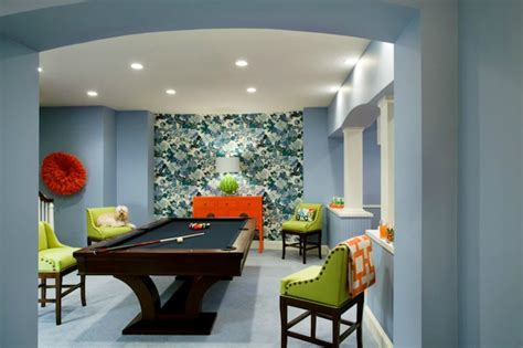 basement game room contemporary basement liz caan interiors