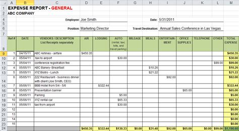 business expense tracker templates excel xlts