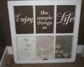 Old Window Panes Craft Ideas