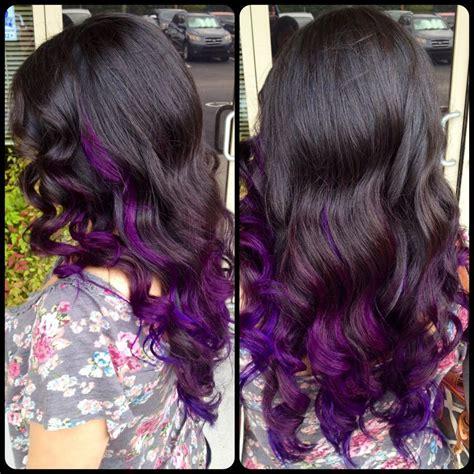 Purple Ombre Vivid Hair Color Ideas Pinterest