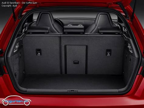 audi a3 sportback kofferraumvolumen foto bild audi s3 sportback der kofferraum angurten de