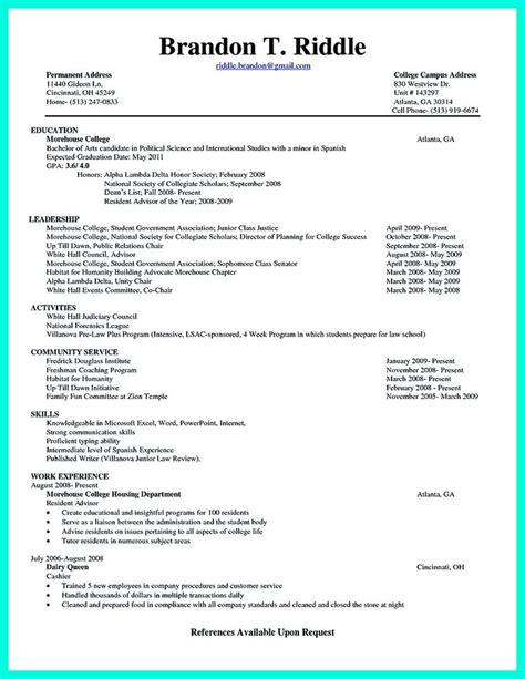 current college student resume  designed  fresh