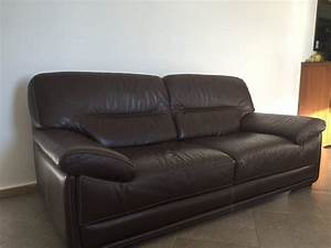 Canape sofa en cuir 3 places chateau dax monacolist for Canapé 3 places chateau d ax