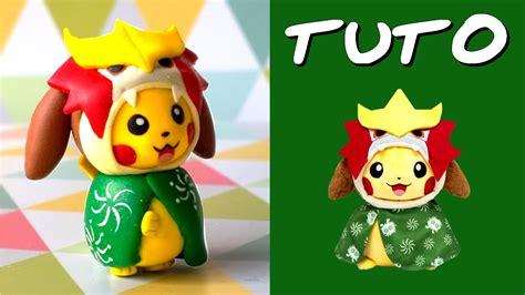 tuto fimo pikachu cosplay entei inspire de la peluche