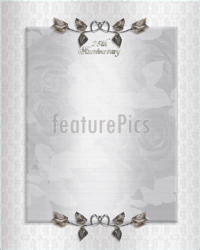 Templates: 25Th Silver Anniversary Invitation Stock