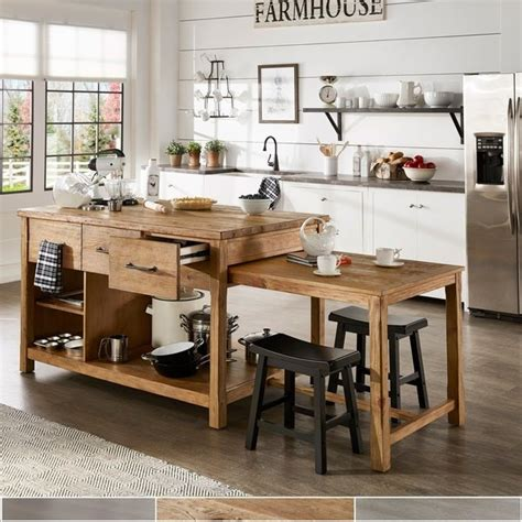 shop tali reclaimed wood extendable kitchen island