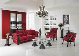 Rotes Sofa Welche Wandfarbe : sofa wohnzimmer in rote farbe inneneinrichtung und m bel ~ Bigdaddyawards.com Haus und Dekorationen