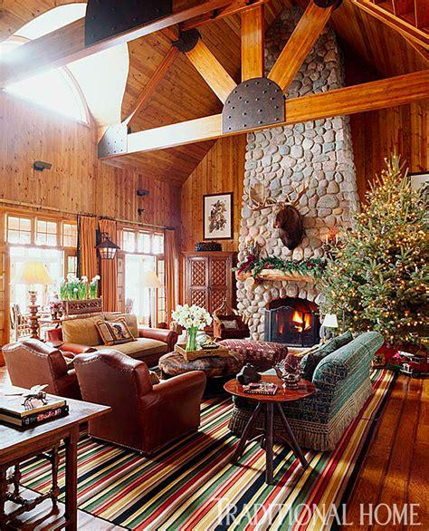 rustic christmas decor traditional home