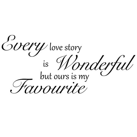 love story quote wall sticker world  wall stickers