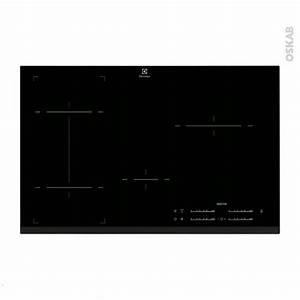 Plaque Induction 80 Cm : plaque de cuisson 4 feux induction 80 cm verre noir ~ Melissatoandfro.com Idées de Décoration