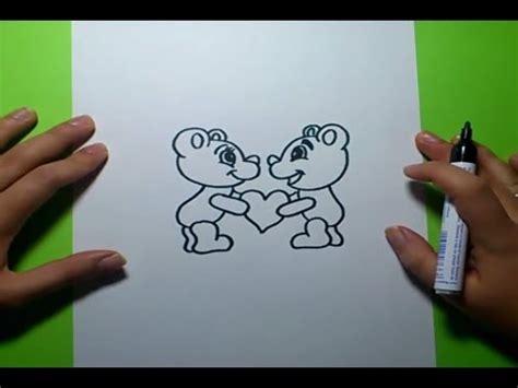 como dibujar osos de peluche paso a paso how to draw