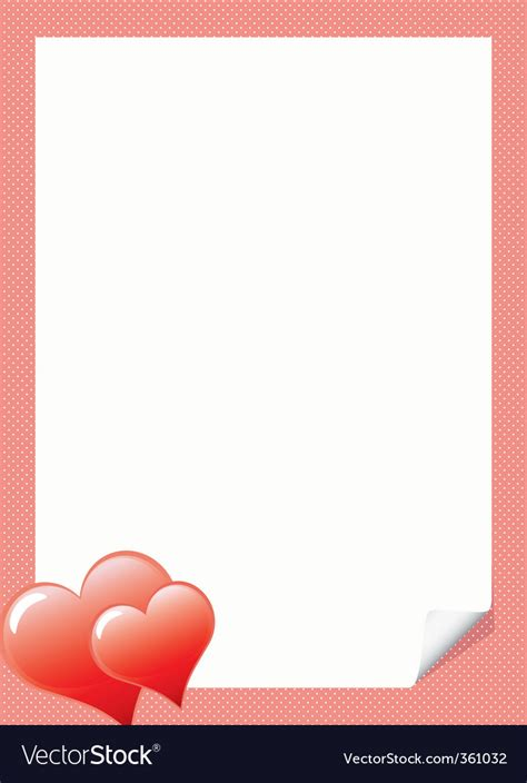 love letter template  hear royalty  vector image