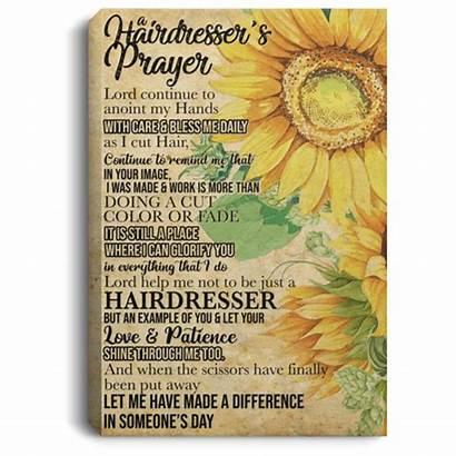 Hairdresser Prayer Canvas Poster Unframed Anoint Framed