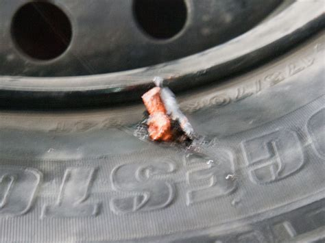 Repair A Punctured Tyre With Tire Repair Strips