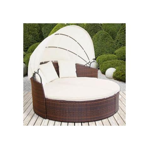 canapé rond but canapé de jardin rond modulable en résine tressée chocolat