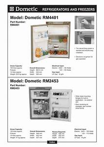 Dometic Rm2453 And Operating Instructions