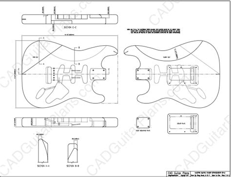 the pdf template fender stratocaster standerd headstock pdf stratocaster electric guitar plan fender style cad