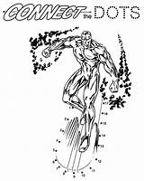 Silver Surfer Superheroes Coloring Pages Printable Kb sketch template