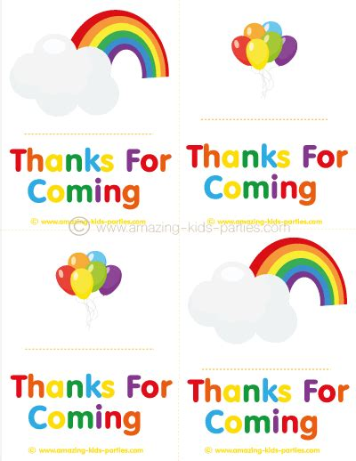 rainbow party   notes birthday