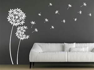 Wandtattoo Dekorative Pusteblumen Aus Blten Wandtattoosde