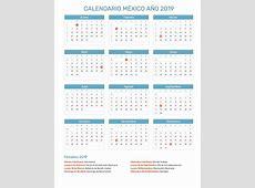 Calendario México Año 2019 Feriados