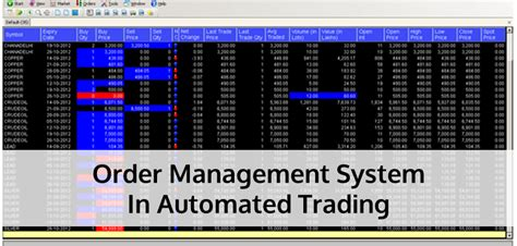 automated trading system automated trading order management system