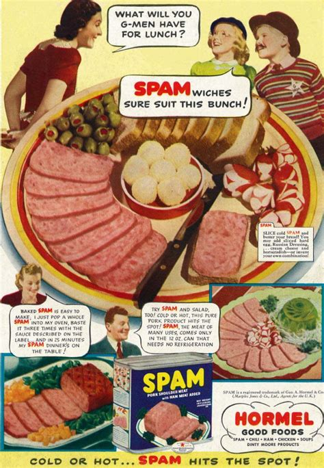 cuisine ad what do you cook at home for advertising spam in the