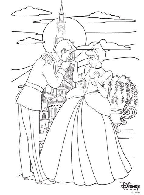 disney princess cinderella  prince charming coloring page crayolacom