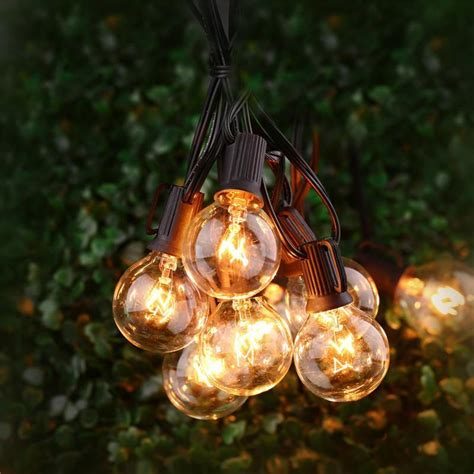outdoor globe string lights 25ft globe string lights with 25 g40 bulbs vintage patio