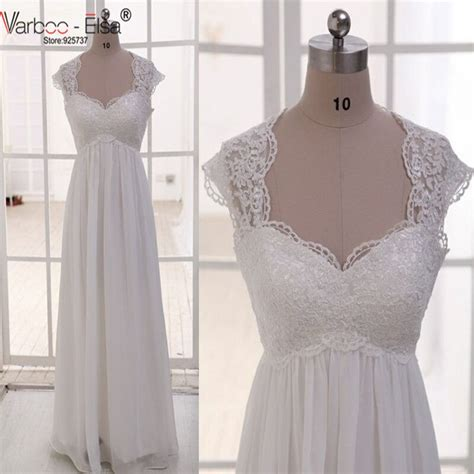 Vintage Wedding Dress Beach Chiffon A Line Empire Waist