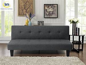 Lifestyle, Solutions, Serta, Moore, 3-seat, Multi-function, Upholstery, Fabric, Sofa, Charcoal