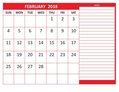 template calendar 2018 february 2018 printable blank template calendar 2018