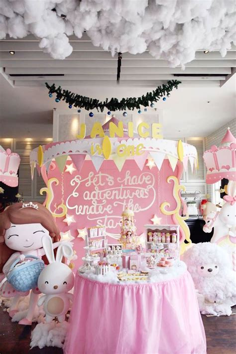 a pink gold carousel 1st birthday party party ideas kara 39 s party ideas carousel gold and pink birthday party
