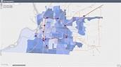 Memphis demographics map - Map od Memphis demographics ...
